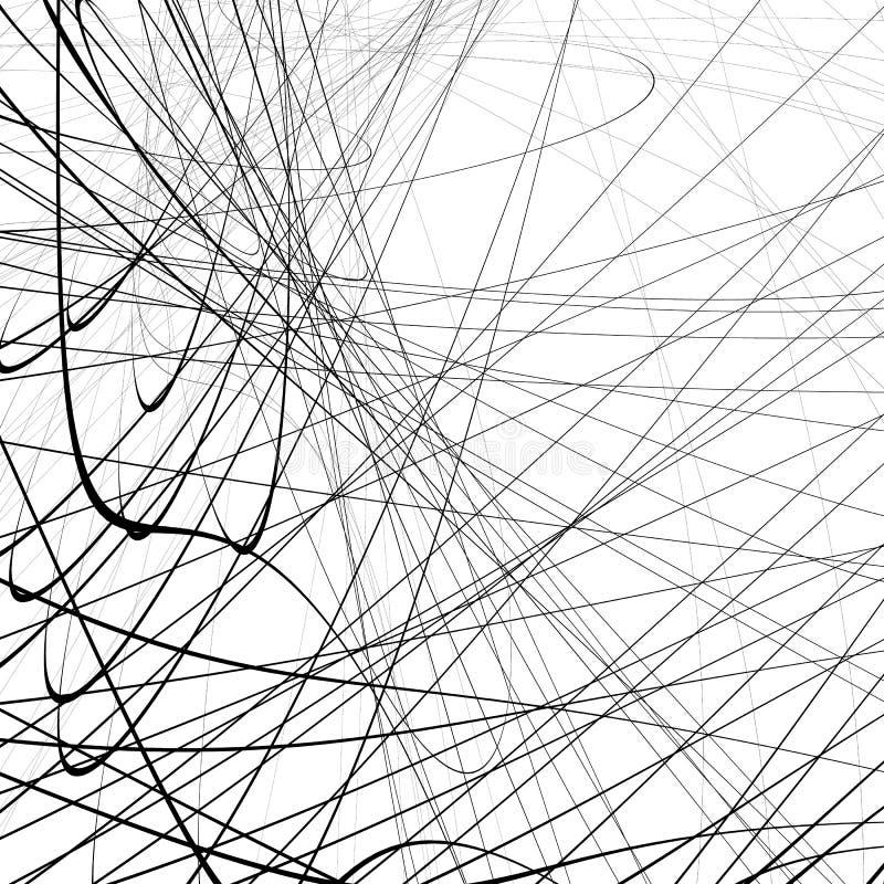 Download Случайное Squiggly, линии Squiggle пересекая в хаотическом стиле A Иллюстрация вектора - иллюстрации насчитывающей случайно, squiggle: 81811461