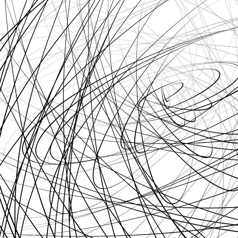 Download Случайное Squiggly, линии Squiggle пересекая в хаотическом стиле A Иллюстрация вектора - иллюстрации насчитывающей monochrome, конспектов: 81811565