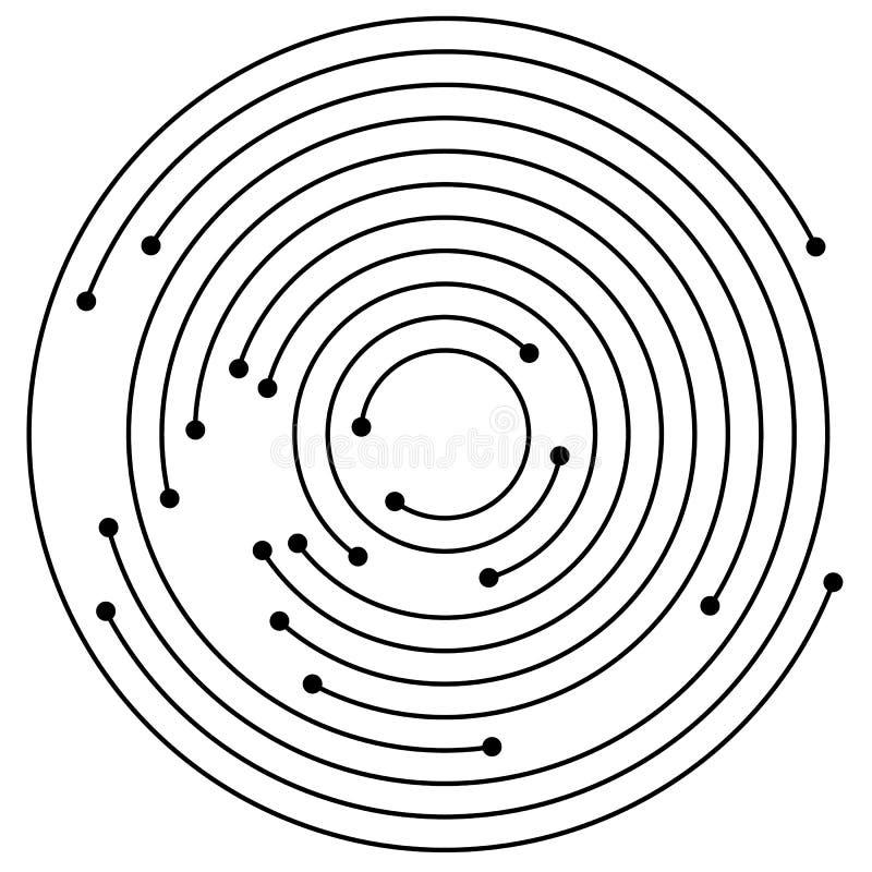 Download Случайные концентрические круги с точками Циркуляр, Ele дизайна спирали Иллюстрация вектора - иллюстрации насчитывающей центростремительно, центробежно: 81813881