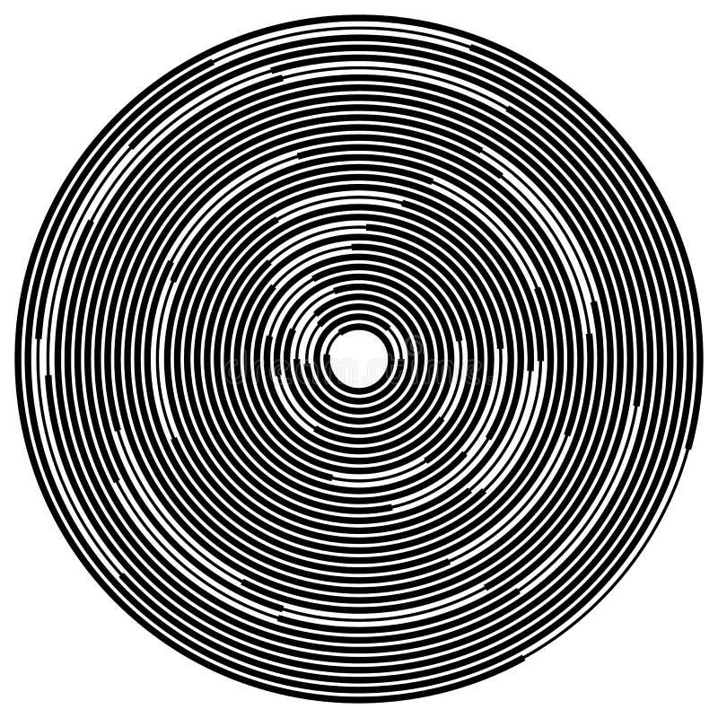 Download Случайные поделенные на сегменты круги/кольца Radial, излучая круговое Ele Иллюстрация вектора - иллюстрации насчитывающей вращайтесь, пульсация: 81813318