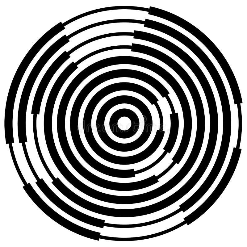 Download Случайные поделенные на сегменты круги/кольца Radial, излучая круговое Ele Иллюстрация вектора - иллюстрации насчитывающей движение, вращать: 81813323