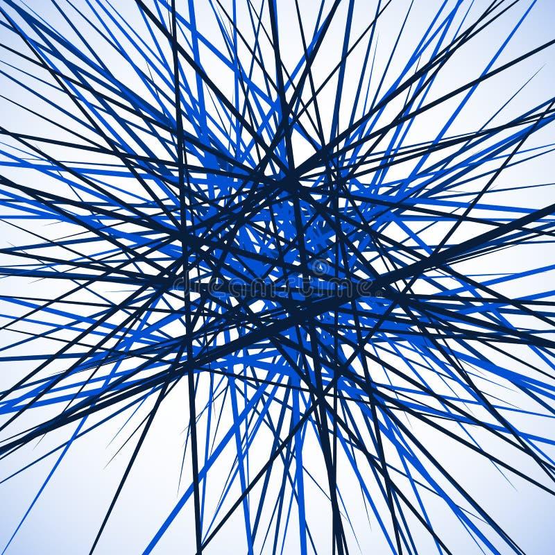 Download Случайные хаотические пересекая линии Абстрактный геометрический Monochrome Иллюстрация вектора - иллюстрации насчитывающей осложнено, беспорядок: 81800614