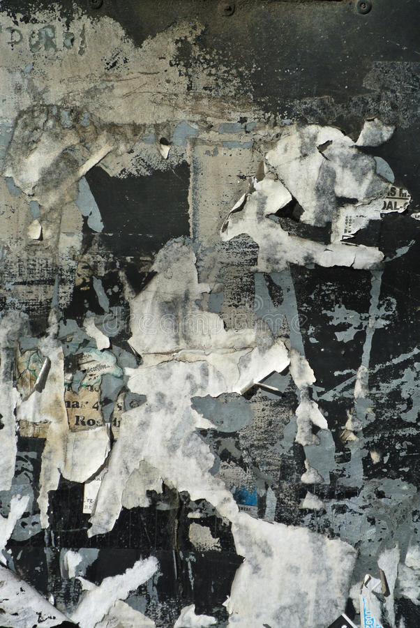 Случайный коллаж или сверх-наслоенные бумаги огораживают текстуру предпосылки стоковая фотография rf