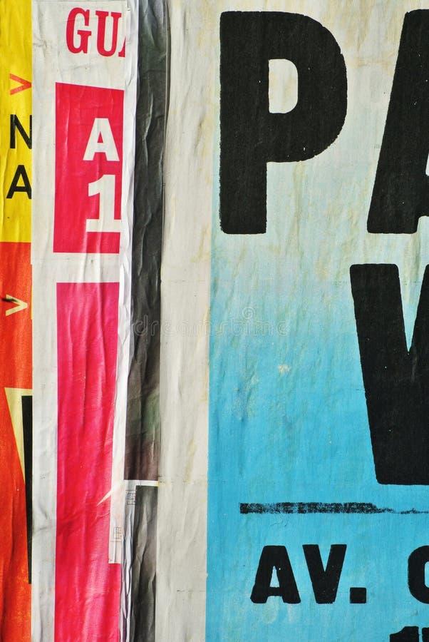 Случайный коллаж или сверх-наслоенные бумаги стоковое фото rf