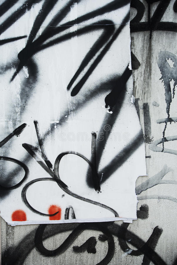 Случайный коллаж предпосылки scribbled текстура на стене стоковые фото