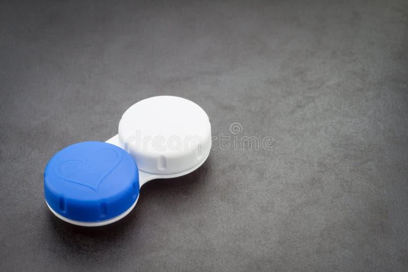 Случай контактных линзов. стоковое изображение