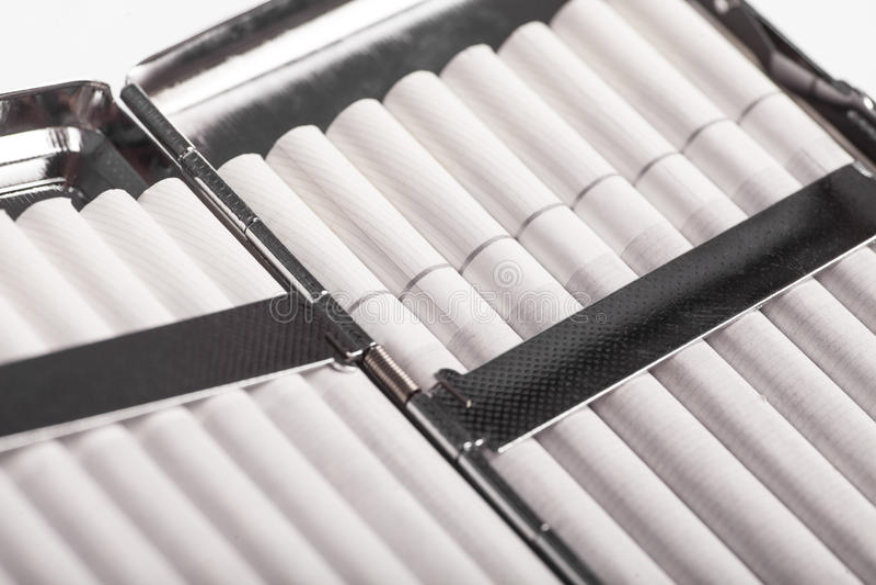 Случай сигареты стоковое изображение