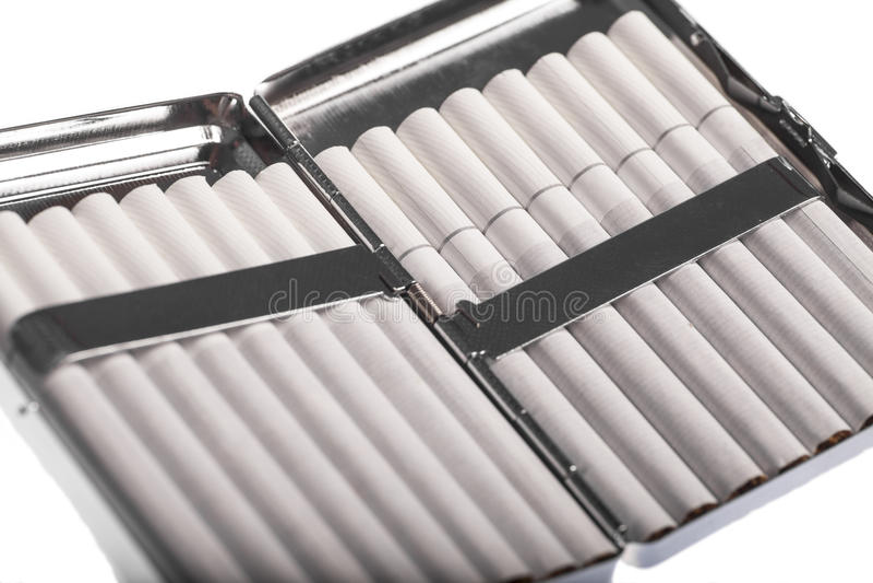 Случай сигареты стоковая фотография