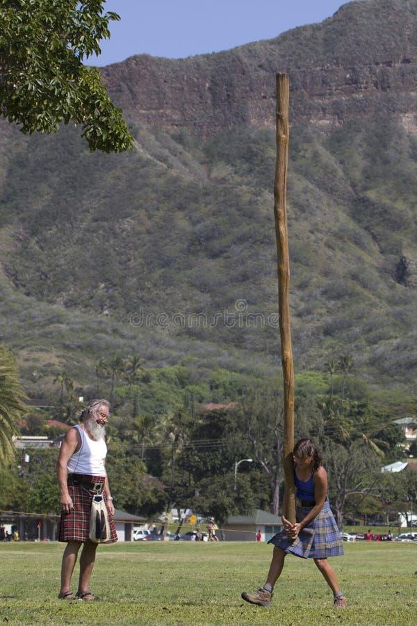 Прогулка Caber женщин стоковое фото rf