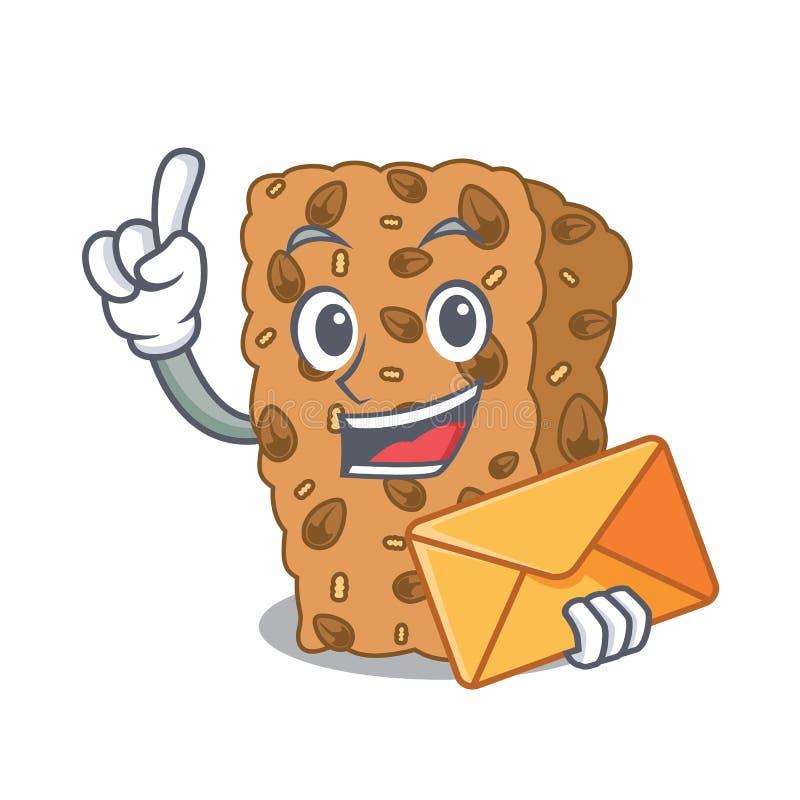 С шаржем характера бара granola конверта бесплатная иллюстрация