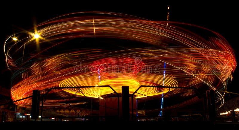 Сarousel i rörelse fotografering för bildbyråer
