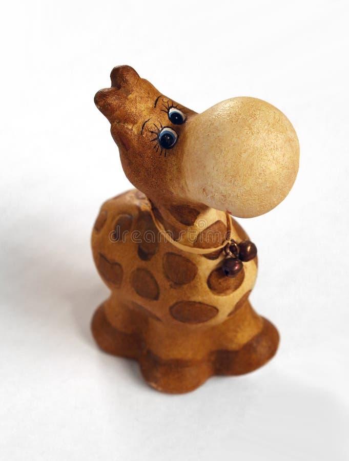 Сlay长颈鹿小雕象顶视图 免版税图库摄影