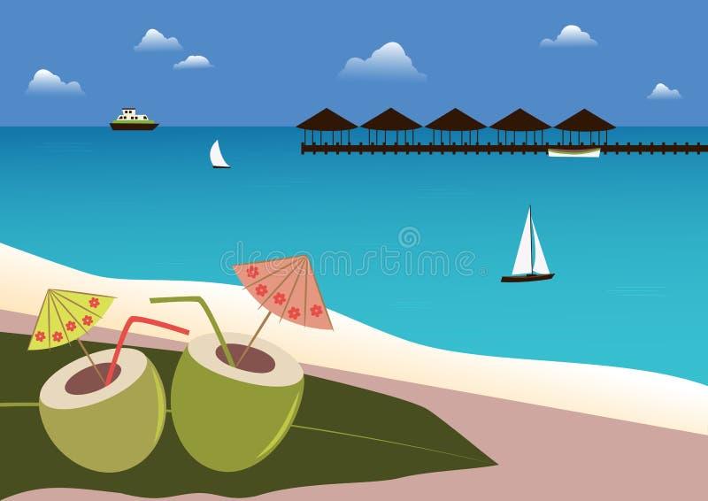 Download Сoconuts鸡尾酒热带海滩。 向量例证. 插画 包括有 果子, 食物, 椰树, 打赌的人, 植物群, 蓝色 - 30327967