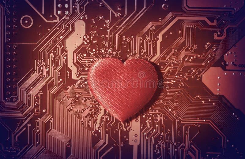 Сomputer hjärta fotografering för bildbyråer