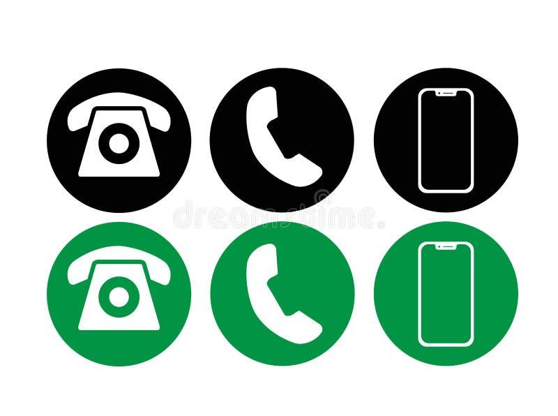Сonnection telefonu ikony ilustracji wektorowy set Wywo?awczy ikona wektor mobilny smartphone przyrządu gadżet Telefon ilustracji