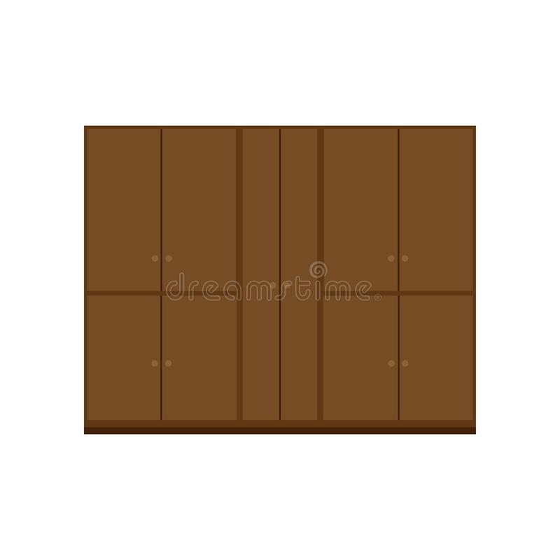 Ð¡upboard vector decor style shelf retro. Interior household drawer equipment room.  royalty free illustration