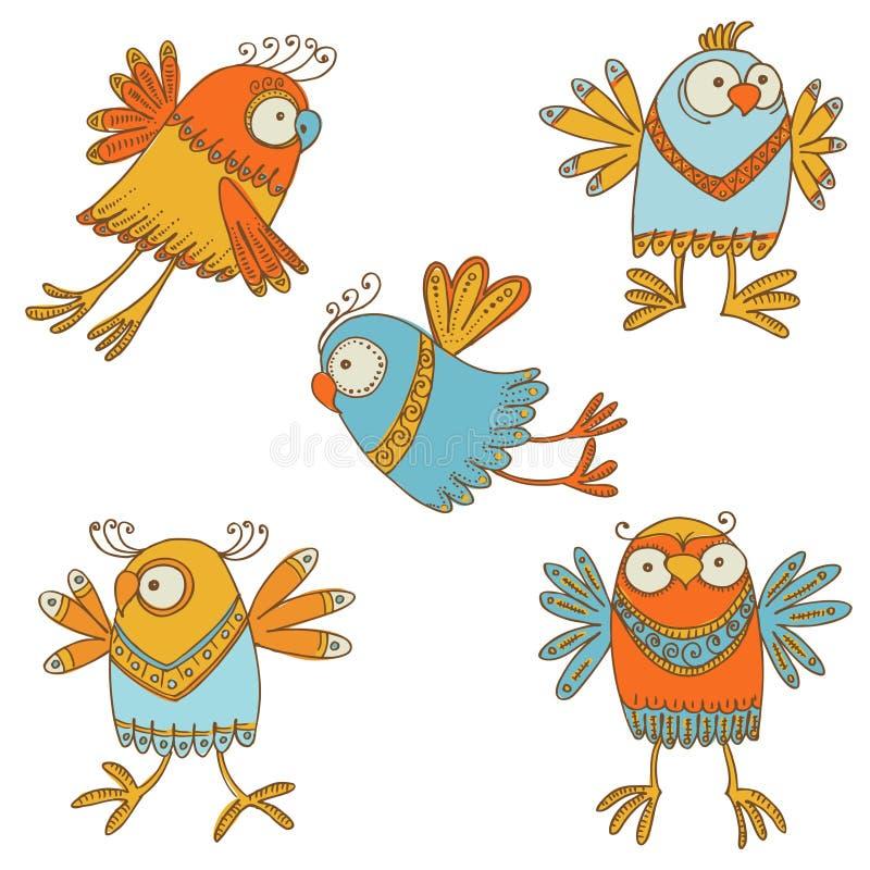 Сute ptaki ilustracji