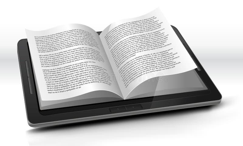 таблетка читателя ПК e иллюстрация вектора
