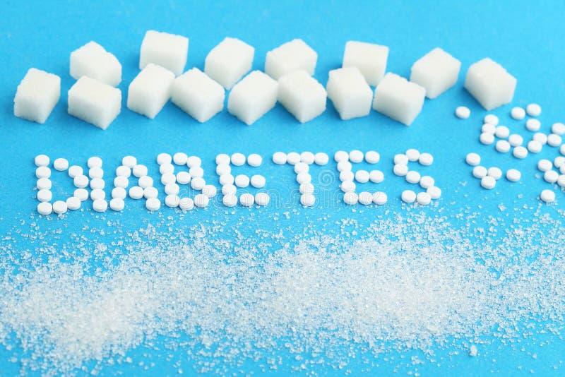 Таблетки и кубы сахара стоковое фото