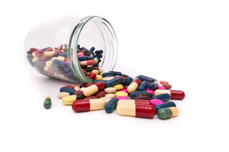 таблетки капсул стоковое фото