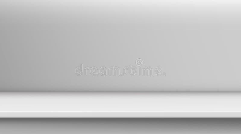 Таблица вектора сетки градиента Предпосылка пустой яркой белой таблицы цвета, комнаты студии рекламирует для ваших продуктов дела иллюстрация вектора