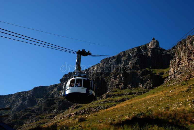 таблица горы Cape Town фуникулярная стоковые изображения rf