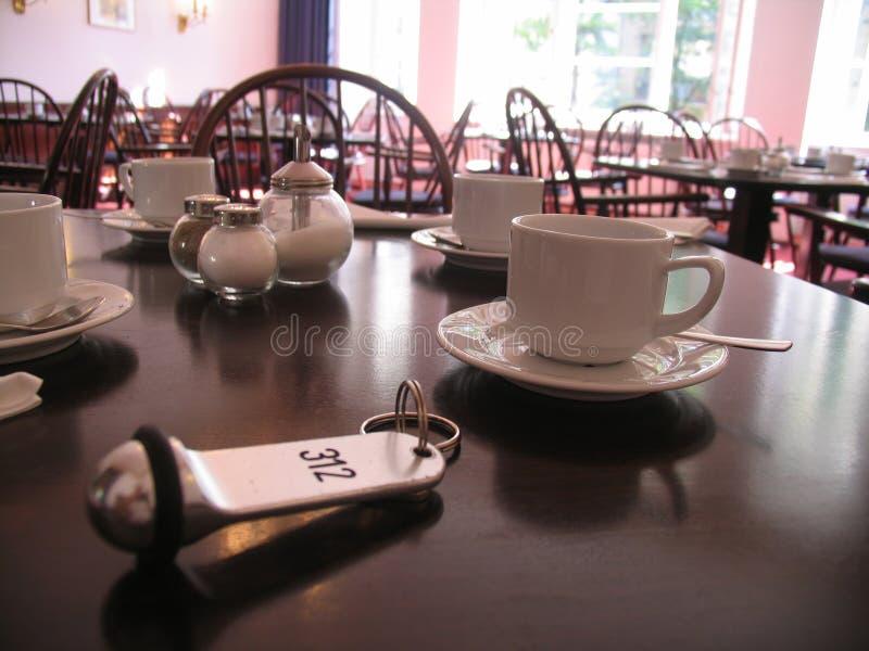 таблица завтрака ключевая стоковое изображение