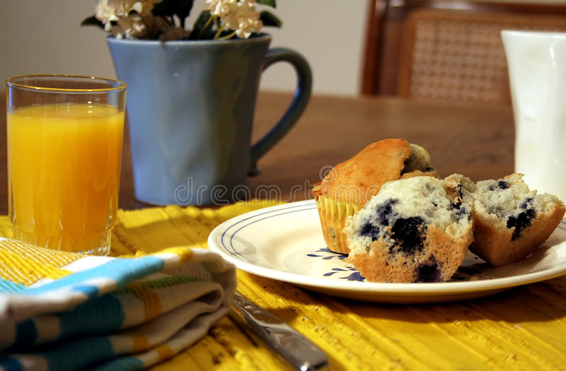 таблица завтрака стоковые фото