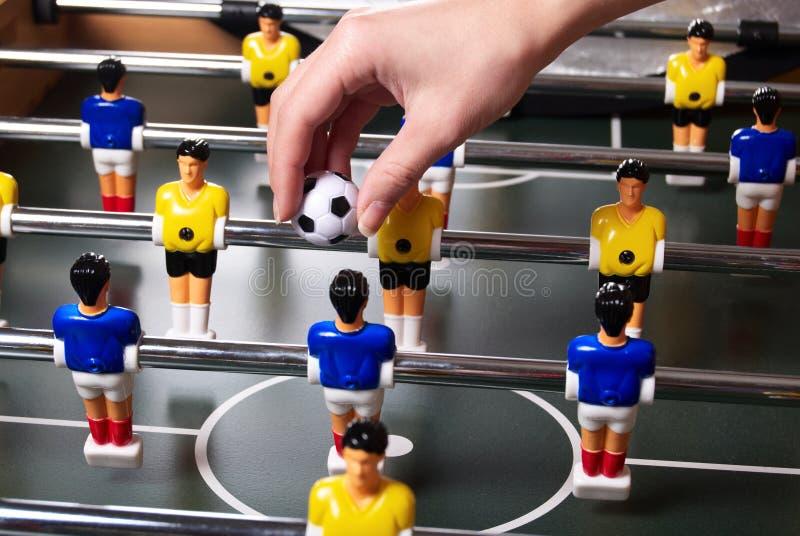 таблица игры foosball стоковое фото