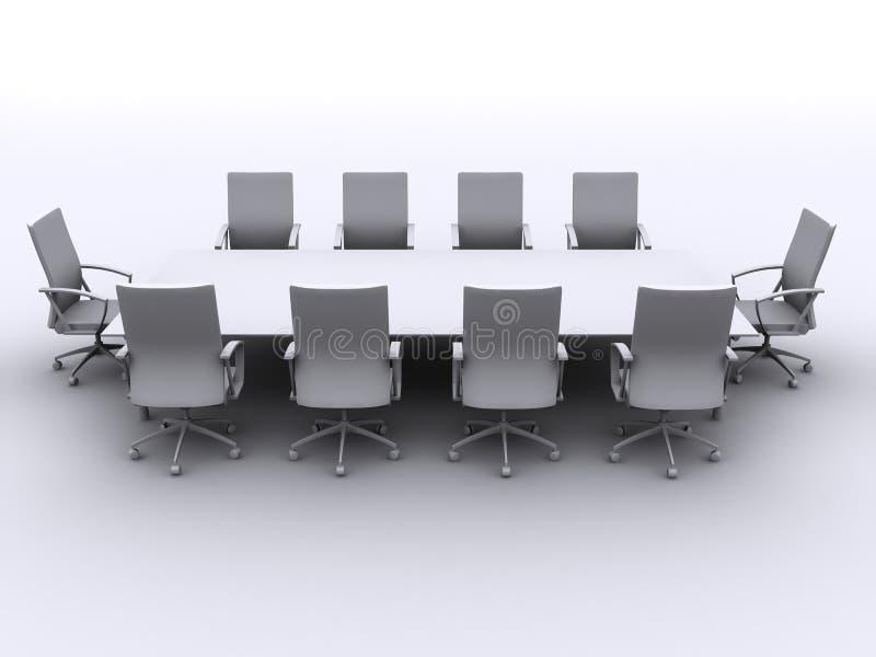 таблица конференции иллюстрация штока
