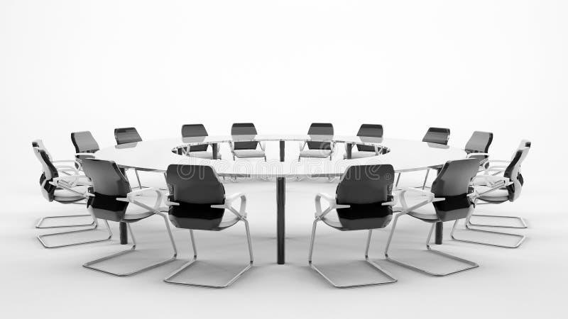 таблица конференции иллюстрация вектора