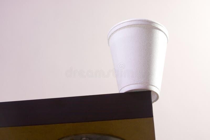 таблица края чашки стоковая фотография