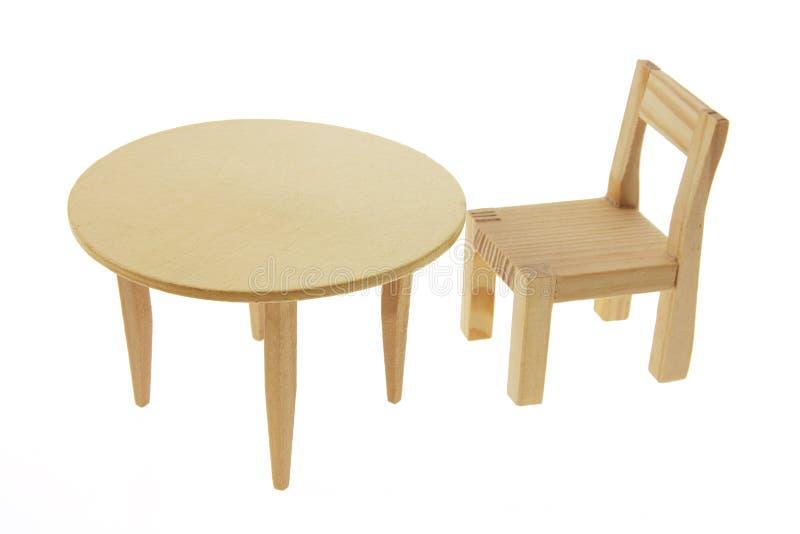 таблица миниатюры стула стоковая фотография