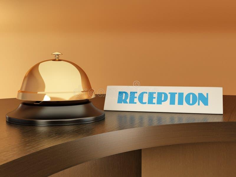 таблица приема гостиницы колокола иллюстрация вектора