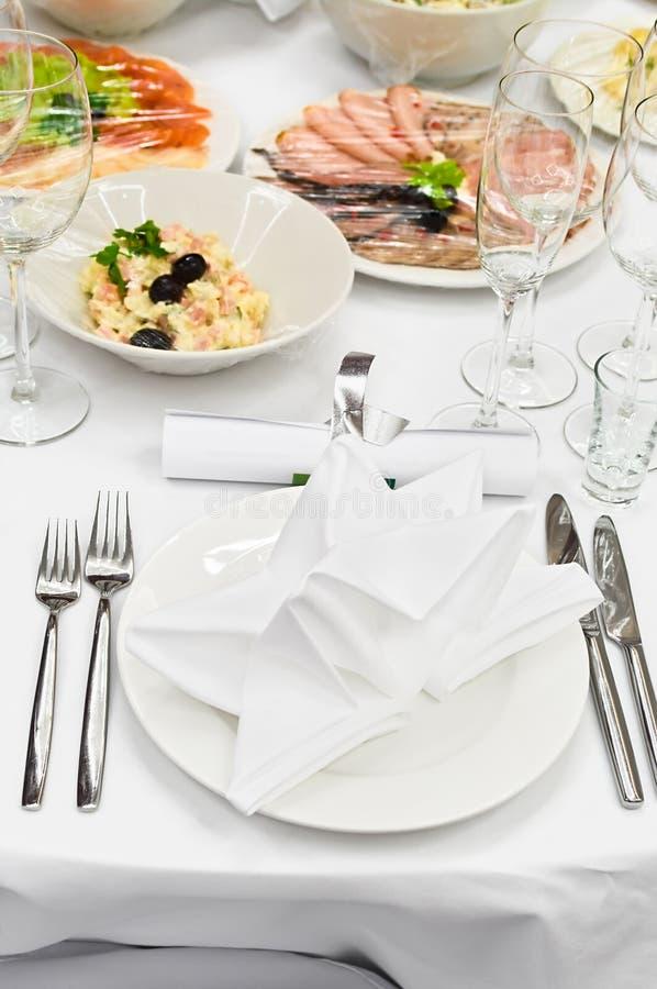таблица ресторана обеда назначений стоковые фото