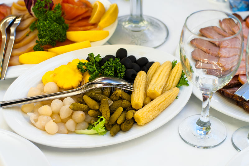 таблица ресторана обеда назначений стоковые изображения