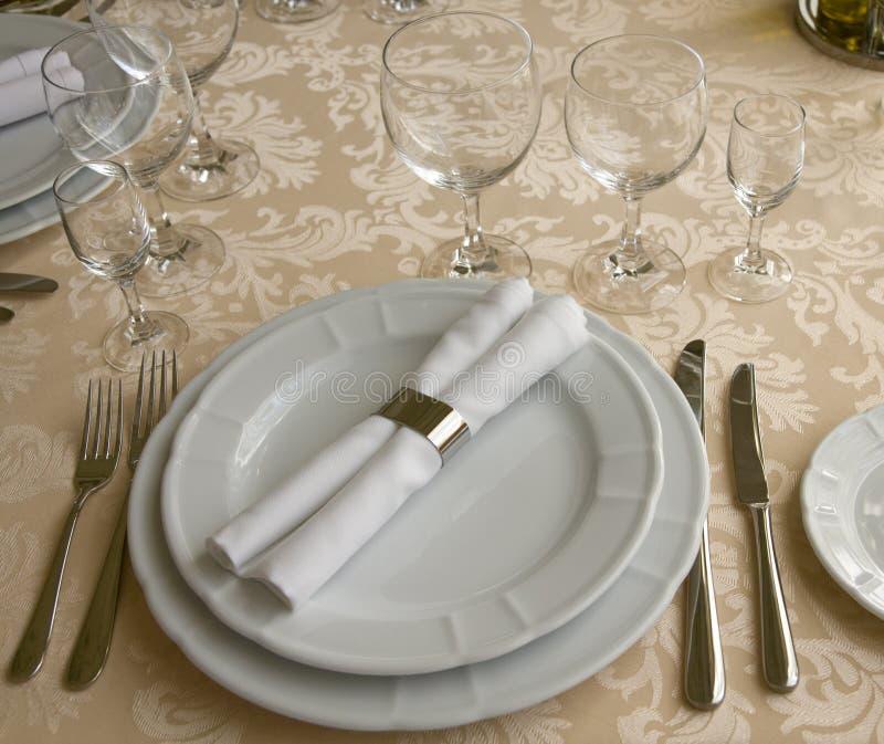 таблица ресторана расположения стоковые фото