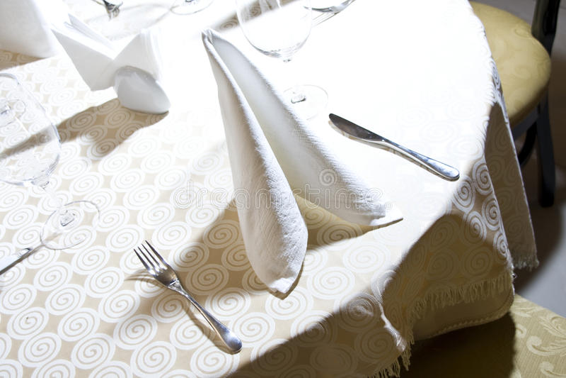 таблица ресторана стоковые изображения