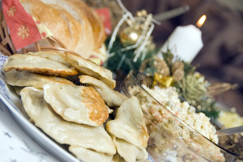 таблица рождества польская стоковые фотографии rf