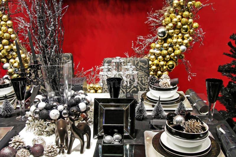 таблица темноты рождества стоковое изображение