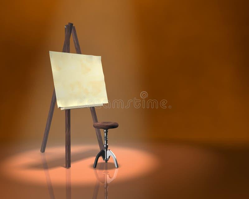 таблица художника стоковое изображение rf