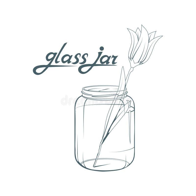 таблица corns кофе стеклянным разленная опарником Нарисованная рука опарника Литерность стеклянного опарника бесплатная иллюстрация