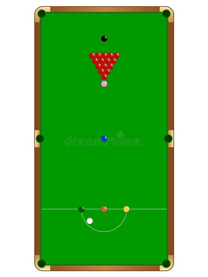 таблица snooker бесплатная иллюстрация