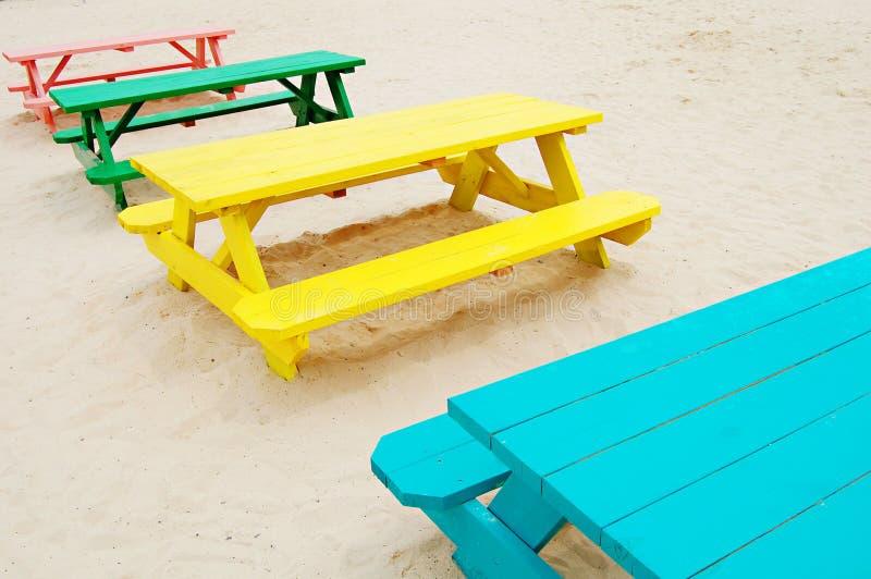 таблицы пикника стоковое фото