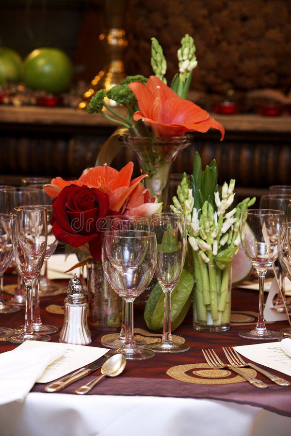 таблицы wedding стоковые фото
