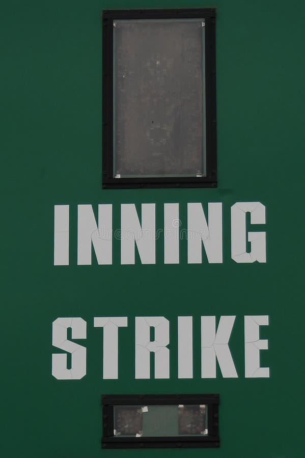 Табло бейсбола стоковые изображения rf