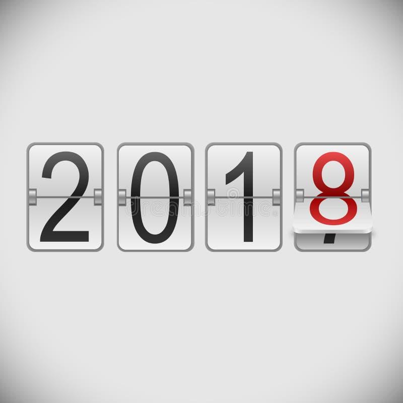 Табло карточка 2018 Новых Годов иллюстрация вектора