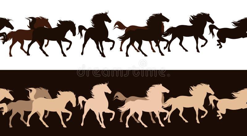 Табун лошади иллюстрация вектора