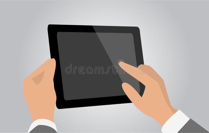 Таблетка в руках иллюстрация вектора