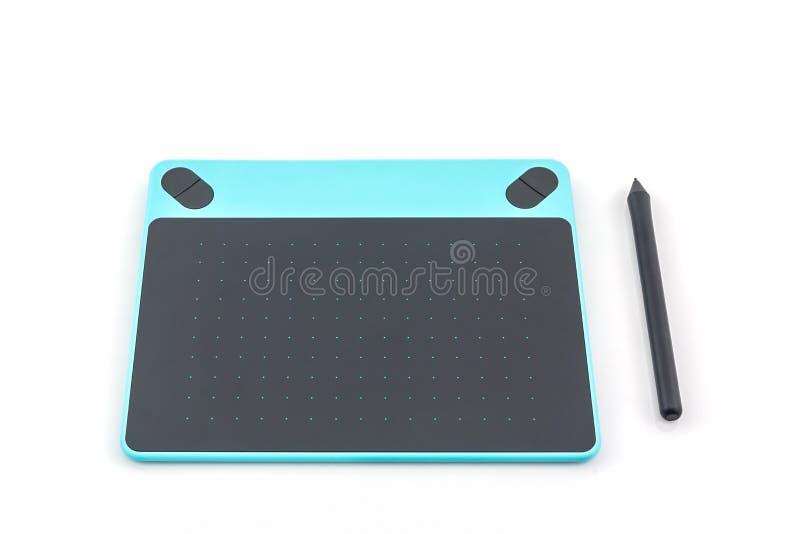 Таблетка и ручка цифров графическая стоковое изображение rf
